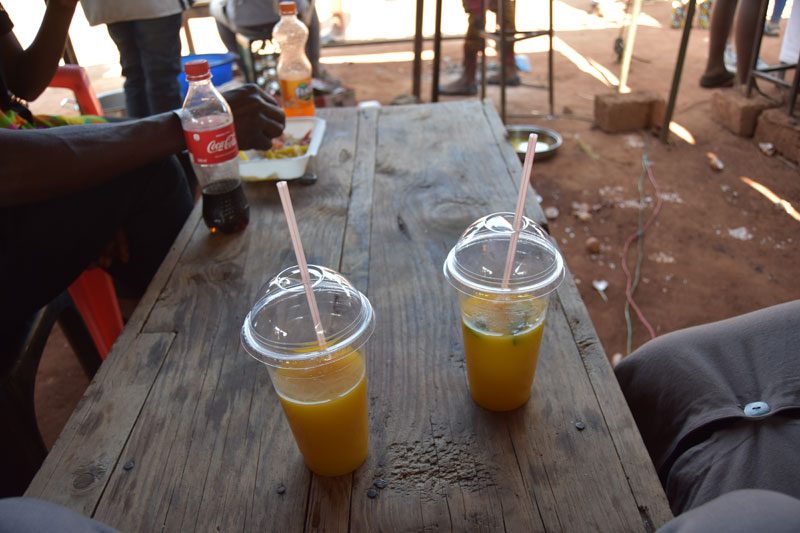 Fruit juice or soft drink? Your choice