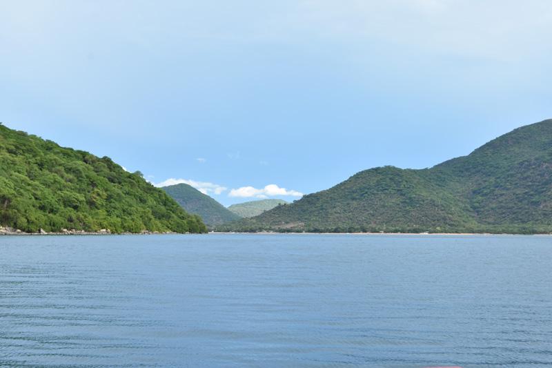 View of Chembe Village beach