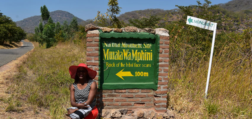 Mwala wa Mphini rock art in Cape Maclear Mangochi